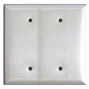 Mulberry Metal 97152 Blank, 2-Gang, Stainless, Satin, Standard