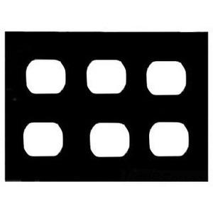 Mulberry Metal 99103 Duplex Receptacle Wallplate, 3-Gang, Steel, Ivory Wrinkle