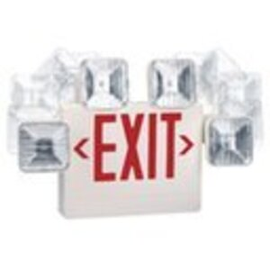 Mule CC-R-U-W-REM LED Exit/Emergency Combo Unit, 120/277V, Remote Capacity