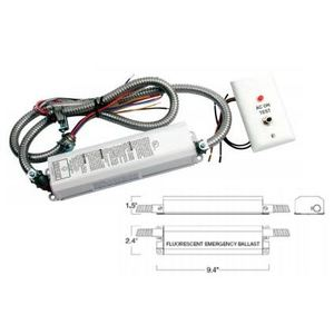 Mule MF40-PLQ Emergency Ballast, Fluorescent, 1-Lamp, 120/277V