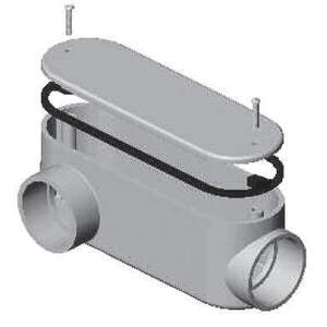 """Multiple 100LR Conduit Body, Type: LR, Size: 1"""", Material: PVC"""