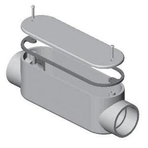 "Multiple 150C 1-1/2"" C PVC Conduit Fitting"