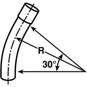 "Multiple 25030ELB 2-1/2"" PVC Elbow, 30°, Schedule 40"