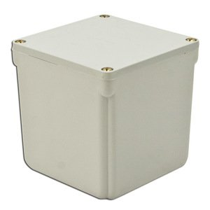 "Multiple 4X4X4-JCT-BOX-W/CVR Junction Box, 4X, Screw Cover, 4"" x 4"" x 4"", PVC/Gray"