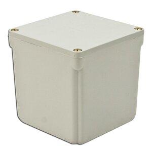 "Multiple 4X4X4-JCT-BOX-W/CVR Junction Box, 4X, Screw Cover, 4"" x 4"" x 4"", PVC/Gray"