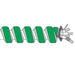 Multiple ACHCFAL122SOLGRN250CL HCF MC, 12/2 Solid, Aluminum Flex, 250'