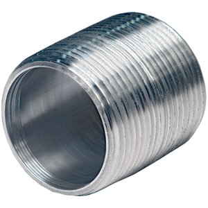 "Multiple ALC150XCL 1-1/2"" x 1-3/4"" Galvanized Conduit Nipple, Closed"