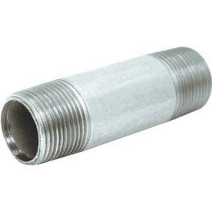 "Multiple GRC150X450 Rigid Nipple, Threaded, Size: 1-1/2 x 4-1/2"", Steel"