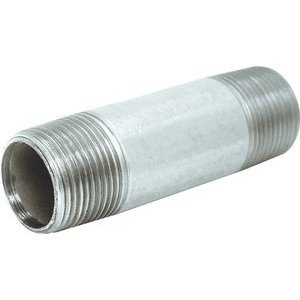 "Multiple GRC150X550 Rigid Nipple, Threaded, Size: 1-1/2 x 5-1/2"", Steel"