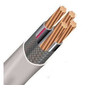 Multiple SER2/02/02/01500RL Service Entrance Cable, SER, Copper, 2/0-3, 500'