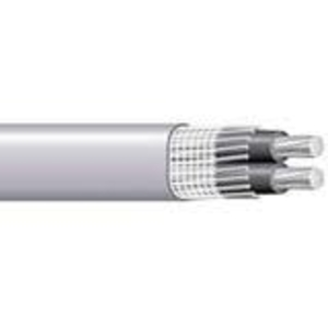 Multiple SEU2221000RL Service Entrance Cable, Type SEU, Aluminum, 2 AWG, 3 Conductor, 1000'