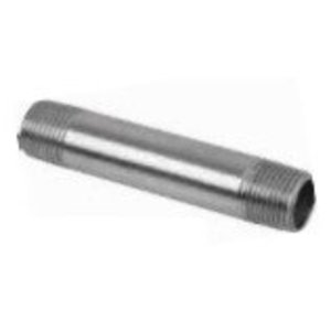 "Multiple SS050XCL Stainless Steel Rigid Nipple, Size: 1/2"" x Close"