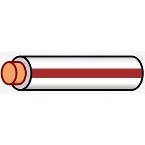 Multiple THHN12STRWHTBRN500RL 12 AWG THHN Stranded Copper, White/Brown Stripe, 500'