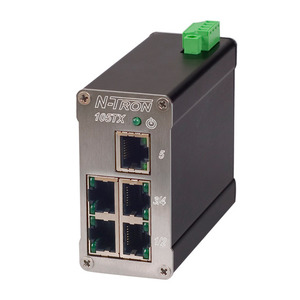 N-TRON 105TX Switch, Unmanaged Industrial EtherNet, 5 Port, DIN Rail Mount