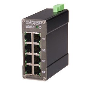 N-TRON 108-TX Ethernet Switch, 8 Port, Unmanaged, 10-30VDC, 10/100BaseTX