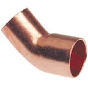 "NIBCO 9046500 Elbow, 45°, Type: Close Rough FTG x C - WROT, Size: 1-1/4"", Copper"