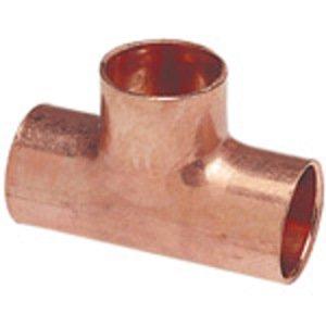 "NIBCO 9099400 Tee, Type: C x C x C - WROT, Size: 1 x 1 x 1-1/4"", Copper"