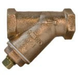 "NIBCO NL2QAOA Y-Strainer, Type: Tapped Cap With Plug, Size: 1"", Bronze"
