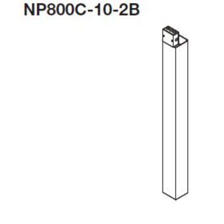 Wiremold - NP800C-10-2B, Power Poles - Aluminum,, Conduit, Ducts ...