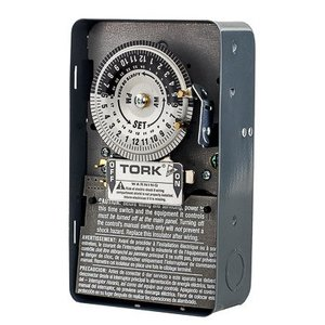 NSI Tork 1103B Mechanical Timer, 24 Hour, DPST, NEMA 1, 40A, 120V