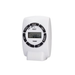 NSI Tork 454E 7 Day Digital Plug-In Timer Single Grounded Outlet Timer 125V Indoor