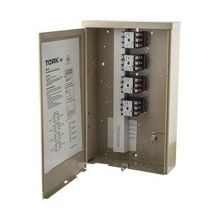 NSI Tork 5441A 4 Contactors 120V Coil 3PST 40 Amp 120-277V Indoor Metal Enclosure