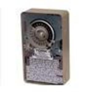 NSI Tork 7220 Mechanical Timer, 24 Hour, DPDT, NEMA 1, 40A, 120V