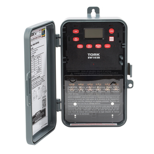 NSI Tork EW103B Time Switch, 7 Day, DPST, 1 Channel, NEMA 3R, 40A, 120-277VAC