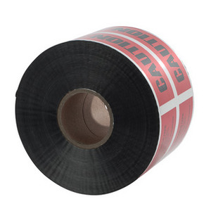 NSI Tork ULTD-627 Detectable Underground Line Tape, BURIED ELECTRIC LINE BELOW, Red