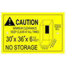 National Specialties Minimum Clearance Label