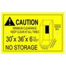 Northwest Laser Minimum Clearance Label