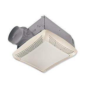 Nutone 763 Ceiling Fan/Light, 50 CFM, Incandescent