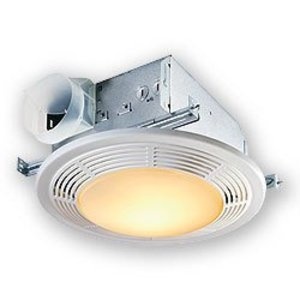 Nutone 8664RP Bathroom Exhaust Fan, 100 CFM, Light