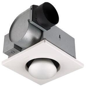Nutone 9417DN Heat Lamp/Fan, 250W Infrared Bulb, White