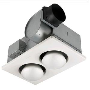 Nutone 9427P Heater/Fan/Light, 250W, 70 CFM