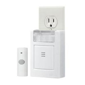 """Nutone LA224WH Wireless Chime, Portable, White, Dimensions: 3-3/4"""" x 4-1/2"""" x 1-5/8"""""""