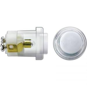 Nutone PB18LWHCL Pushbutton, White Button and Clear Bezel, Diameter: 13/16""