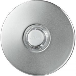 "Nutone PB41LSN Pushbutton, 10V-24V, Lighted, Satin Nickel, 2-1/2"" Round"