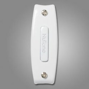 Nutone PB7WH Pushbutton, Unlighted In White