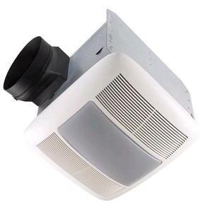Nutone QTXEN080FLT Ceiling Fan/Light, Energy Efficient, 80 CFM
