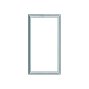 ON-Q 364594-11 42in Cust Door Alum Frame/clear Ins