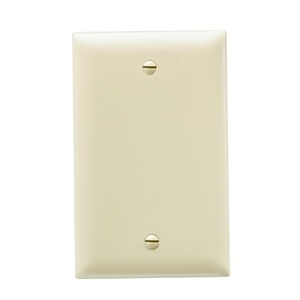 ON-Q TP13-I Wallplate, Blank, 1-Gang, Nylon, Ivory, Standard