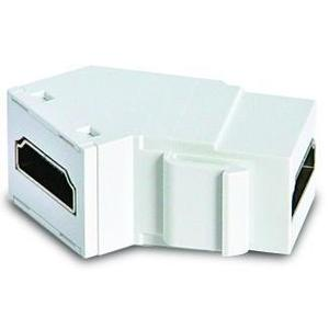 ON-Q WP1234-WH HDMI Coupler, Keystone Jack, ON-Q, Angled Back, White,