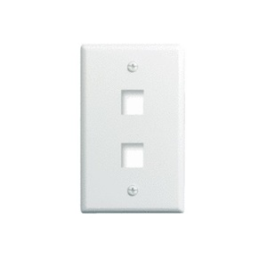 ON-Q WP3402-IV Wall Plate, Snap-In, 1 Gang, 2 Port, Ivory