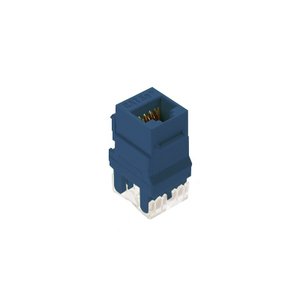 ON-Q WP3450-BE Snap-In Connector, AnyPort, Voice Grade, 6P6C, Blue