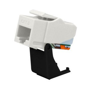 ON-Q WP3460-WH Snap In Connector, Keystone, CAT6, RJ45, 4P4C, T568A/B, White