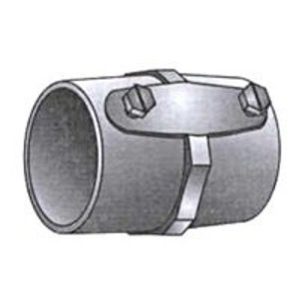 "OZ Gedney 29-125 Rigid Set Screw Coupling, 1-1/4"", Steel, Concrete Tight"