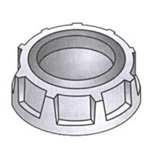 """OZ Gedney 3-400 Capped Bushing, Threaded, 4"""", Malleable Iron"""