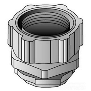 "OZ Gedney 4Q-250T Liquidtight Connector, Straight, 2-1/2"", Malleable Iron"