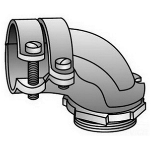 """OZ Gedney ACV-50 Flex Connector, 90°, Type: Squeeze, Non-Insulated, 1/2"""", Malleable"""